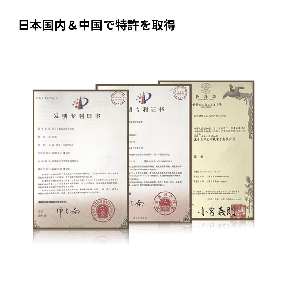 日本国内&中国で特許を取得